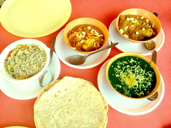 Gopi Guesthouse and Restaurant:                   Really nice food at Gopi rooftop restaurant