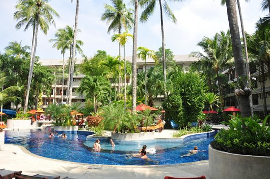 Novotel Phuket Surin Beach Resort.: Part of the pool area.