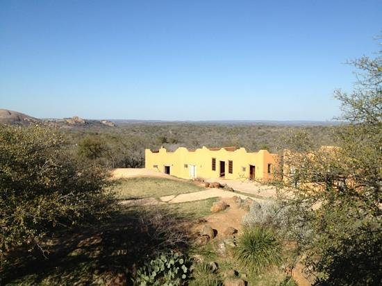 Trois Estate at Enchanted Rock: view from rooftop restaurant