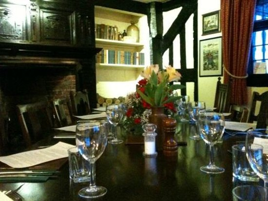 Open fire really added to the atmosphere picture of the for Best private dining rooms cheshire