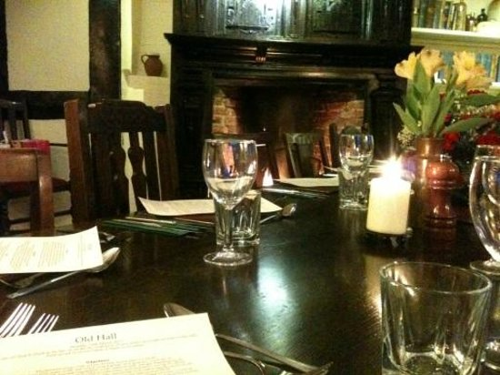 The Old Hall: Table was very nicely presented in the private function room