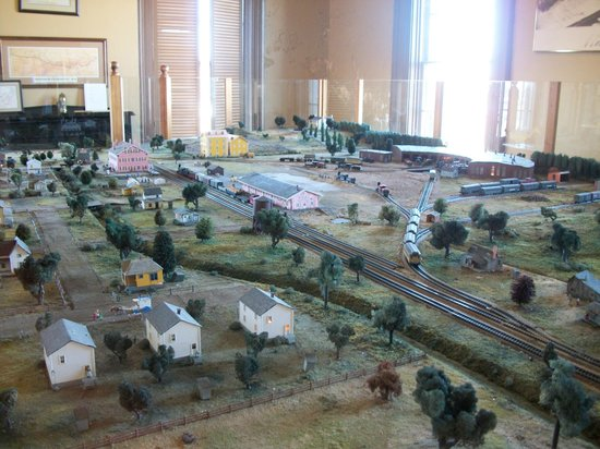 Huntsville Depot Museum: model of the depot and surrounding area as it appear 1860