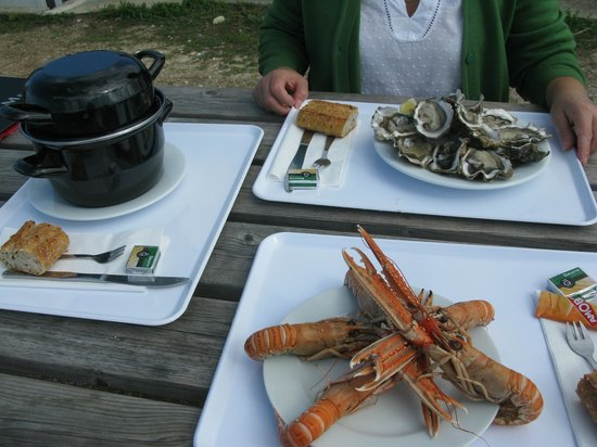 Cabanajam : plateaux de fruits de mer