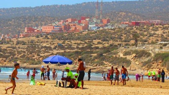 Taghazout Beach : taghazout village