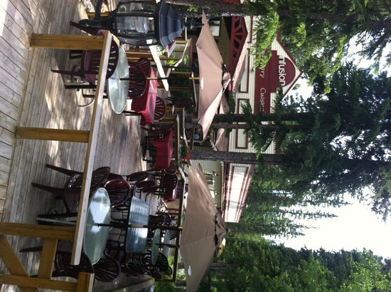 Infusion: Nice patio in Summer time