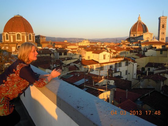 B4 Astoria Firenze: view from roof terrace