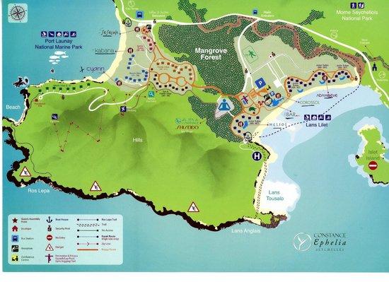 La carte du Resort Picture of Constance Ephelia Mahe Island