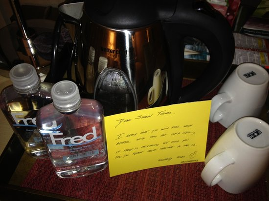 Kimpton Hotel Wilshire: My care tray