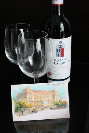 The Grosvenor Hotel: A welcome gift upon arrival