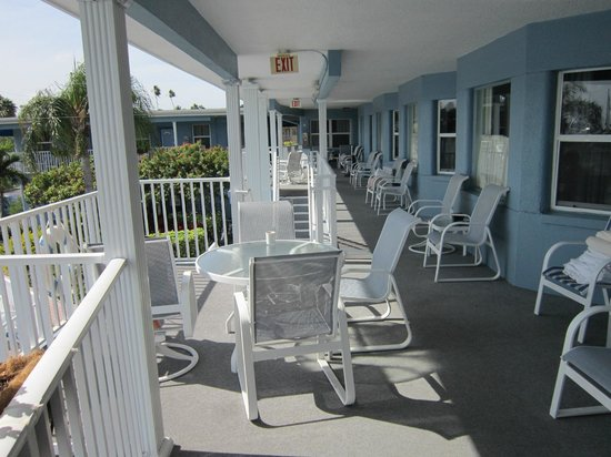 Sea Captain Resort on the Bay:                   outdoor seating outside your room