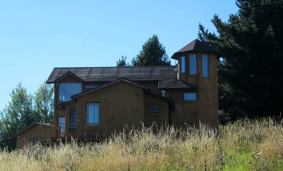 Patagonia House:                   A view of the main building from the south.