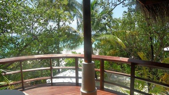 Constance Halaveli: View from balcony in storey beach villa