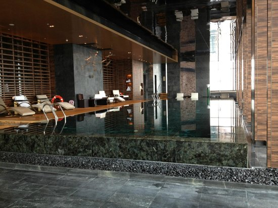 Indoor Swimming Pool On 41st Floor Picture Of Four Seasons Hotel Shanghai At Pudong Shanghai