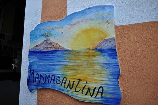 Hotel Mamma Santina: Hotel sign