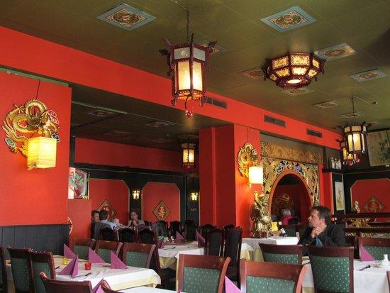 China-Restaurant Man Fat:                                     The restaurant inside