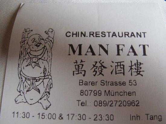 China-Restaurant Man Fat:                                     Man Fat ...himself