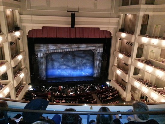 Bass Performance Hall: View from our seats, not the best quality picture, but gives you an idea of the place.