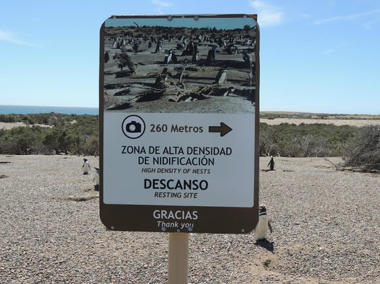 Punta Tombo National Reserve: Sign