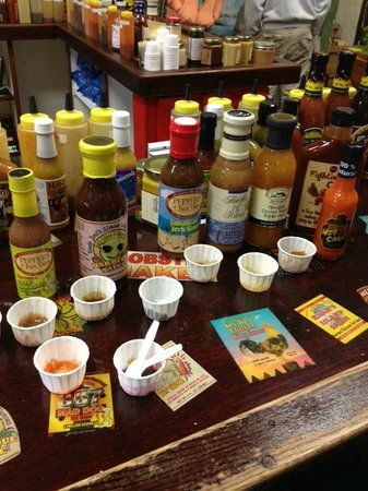 Peppers of Key West: Sampling spices and sauces