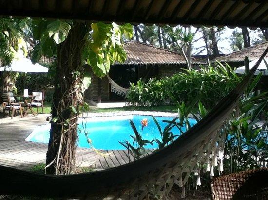 Pousada Berro do Jeguy:                   Zona de piscina y bungalows