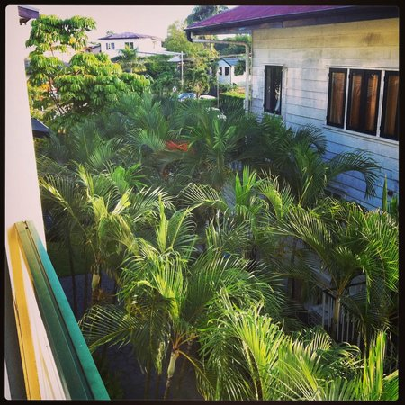 Eco Resort: View from balcony of room 361 towards reception building