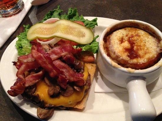 MR MIKES SteakhouseCasual: Mr mikes bacon mushroom cheese. extra bacon and cheese. bomb!