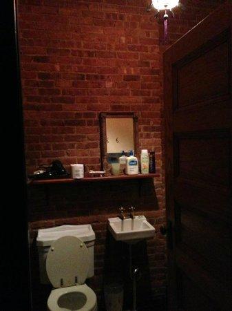 The Harlem Flophouse: Brick bathroom