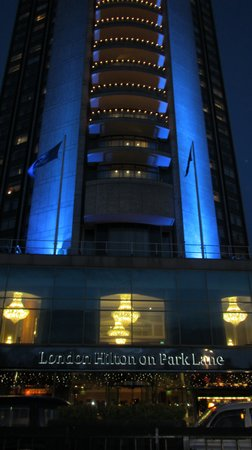 London Hilton on Park Lane:                   The Hotel Entrance