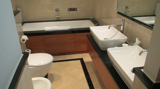 London Hilton on Park Lane:                   Bathroom