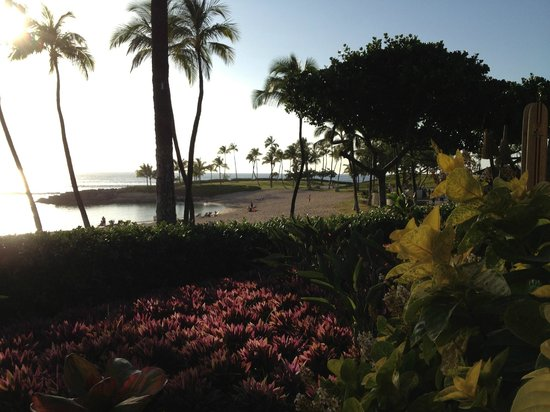 Marriott's Ko Olina Beach Club: Partial view of beach area (from Longboards patio)