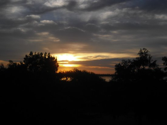 Kilometro Cero Bed & Breakfast: Sonnenuntergang, Blick von der Terrasse