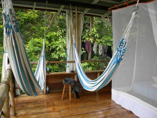 La Loma Jungle Lodge and Chocolate Farm: my hammocks