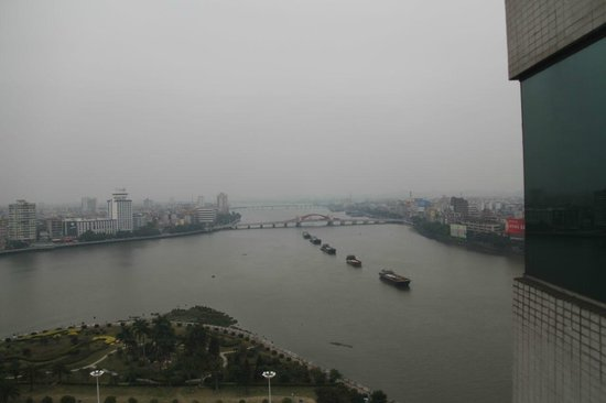 Pan Tower International Hotel: Barges loaded with Fireworks for the Spring Festival