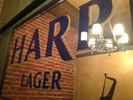 McCarthy & Bailey's Irish Pub: Cool mirror in larger snug