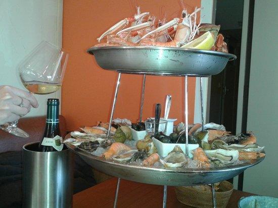 Crepes et coquillages : Le plateau de fruit de mer