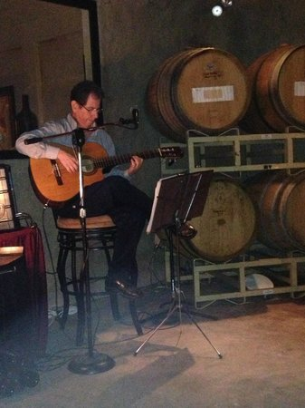 Cabo Winery Restaurant at Los Cabos Winery: Viny playing an amazing guitar