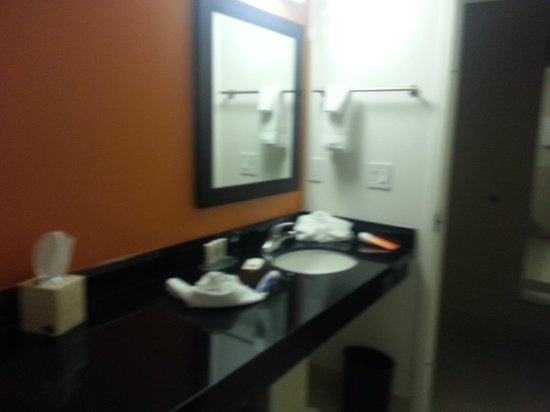 Courtyard by Marriott Fort Lauderdale East: bathroom sink area