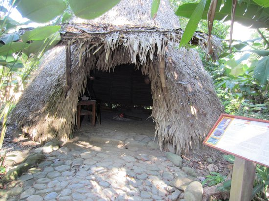 Hacienda Baru Lodge: Pre-columbian shelter example