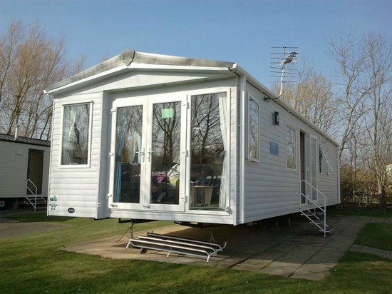 The beautiful caravan we stayed in picture of haggerston for Castle haven cabins