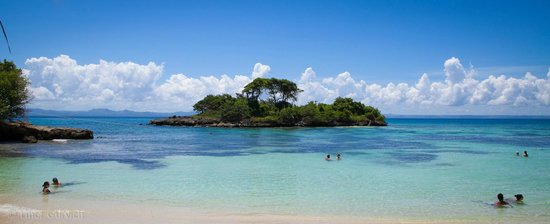 منتجع باهيا برينسيبي كايو ليفانتادو الفاخر - شامل جميع الخدمات/لجميع الب: Vista a la isla desde la playa privada