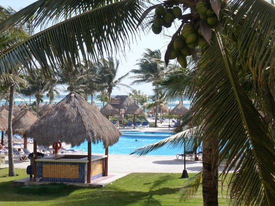 "Grand Bahia Principe Tulum: View from our room-""quiet pool""."