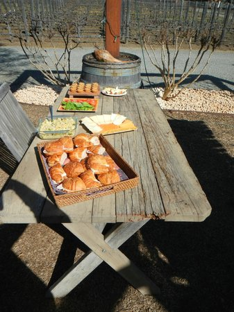 Platypus Wine Tours: Part of the lunch spread at Tudal Family Winery