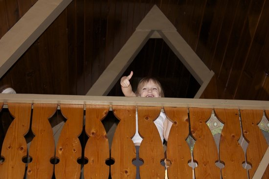 Douglas Fir Resort & Chalets:                   Toddler approval!!