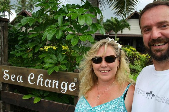 Sea Change Villas: In front of the Sea Change Sign