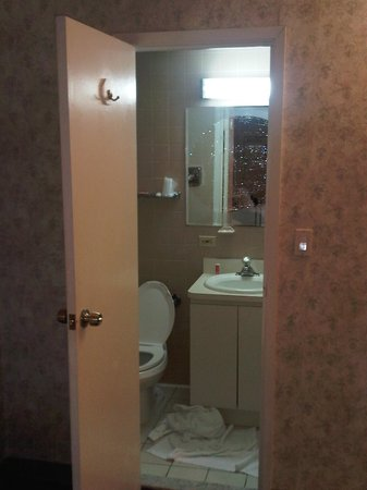 Econo Lodge Hicksville:                   VERY VERY SMALL BATHROOM