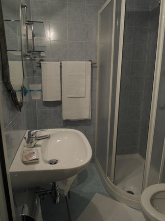 Hotel Il Bargellino: The bathroom is in the room,and the towel and shampoo is provided. SO GOOD