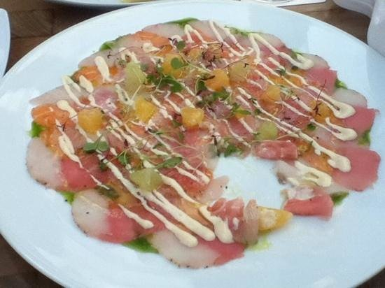 Harry Sasson: carpaccio de frutos de mar