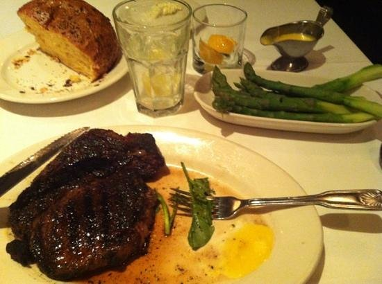Morton's - The Steakhouse: Cajun Ribeye with Jumbo Asparagus