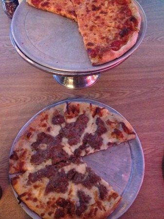 Tony Z's Apizza:                   steak and pizza and a mozzarella