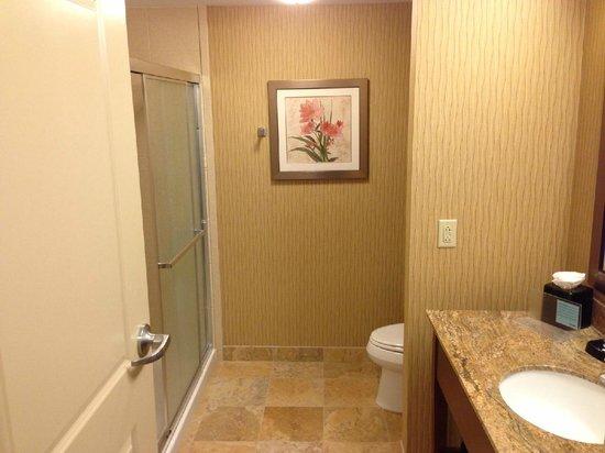 Hampton Inn Owings Mills: King Bedroom - Bathroom